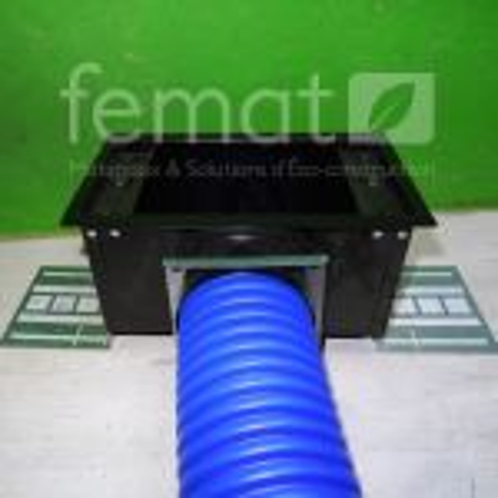Boitier de raccordement plénum latéral CLD pour gaine pehd 75 mm