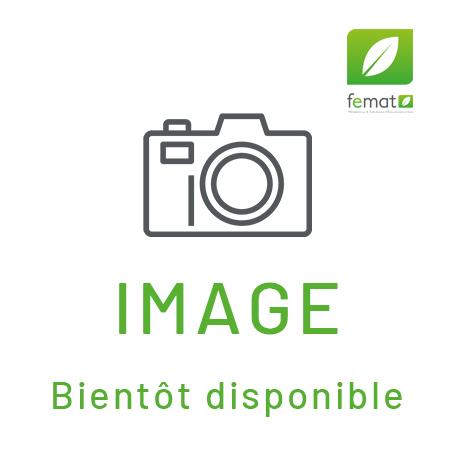 Grille carré design Torino blanc diamètre 125 mm - Zehnder