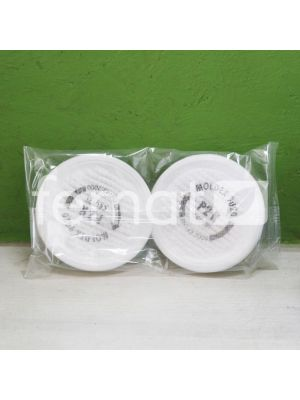 Lot de 2 cartouches filtrantes pour masque de protection - Jetly