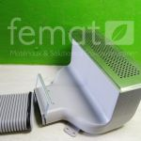 Boitier latéral pour grille carrée CLF Comfoflat Zehnder